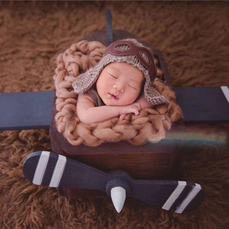 acessorios de fotografia do bebe aderecos criancas forca aerea bone manual trico chapeu do bebe foto
