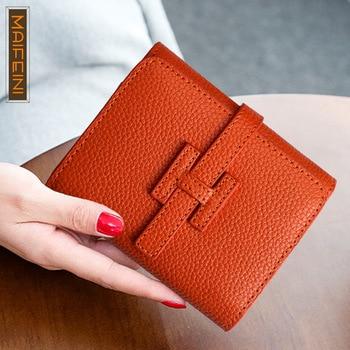New Belt Buckle Woman's Purse, Fashion Short Women's Wallet - discount item  20% OFF Wallets & Holders