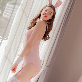 Sexy Rabbit Cosplay Costumes with Tail 3