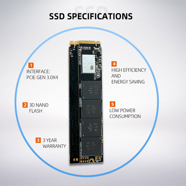 Hot KingSpec M.2 NVME ssd M2 1TB PCIe NVME SSD 128GB 512GB 256gb 2TB Solid State Drive 2280 Internal Hard Disk hdd for Desktop 3
