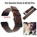 Сменный роскошный кожаный ремешок для наручных часов с инструментами для Garmin Fenix 5X5 5S Plus 6 6S 6X Pro gps ремешок для наручных часов