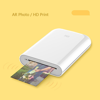 Xiaomi AR Printer 300dpi Portable Photo Mini Pocket With DIY Share 500mAh picture printer pocket printer work Bluetooth Printer art coffee drinks printer food printer chocolate printer with food ink free factory supply with ce