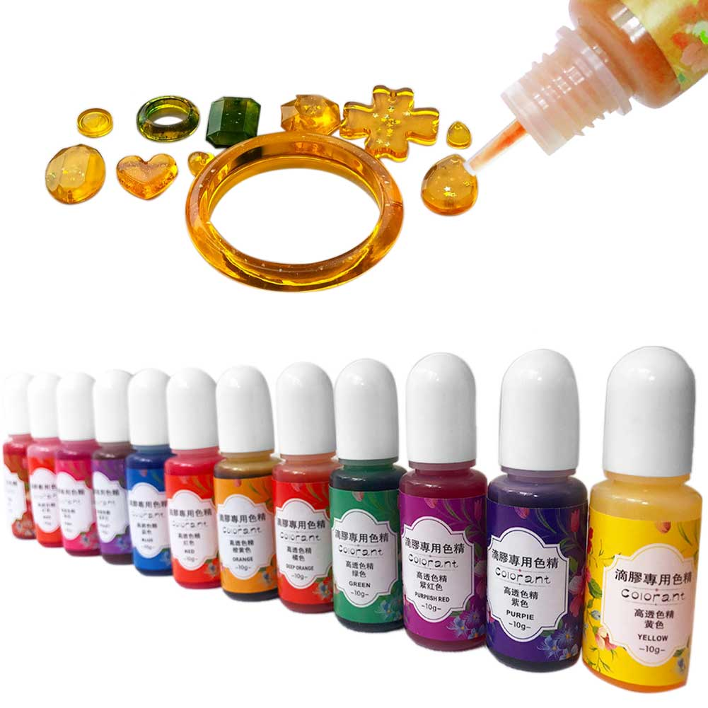 UV Epoxy Resin Pigment Highly Concentrated Home Dye Jewelry Making Odorless 13 Colors Portable DIY Crafts Colorant Liquid 3