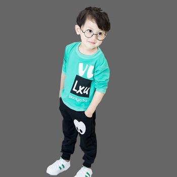 Nowe zestawy ubrań dla chłopców jesienne ubranka dla chłopców w stylu dżentelmena koszulka Polo + spodnie 2 szt Ubrania dla chłopców zestaw zimowy tanie i dobre opinie Unini-yun Moda O-neck Swetry 11 5 14 5 COTTON spandex Chłopcy Pełna REGULAR Pasuje prawda na wymiar weź swój normalny rozmiar