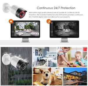 Image 4 - ZOSI 1080P 4CH CCTV Kamera System CVBS AHD CVI TVI Video Wasserdichte Außen Kamera CCTV Überwachung Sicherheit System DVR kit