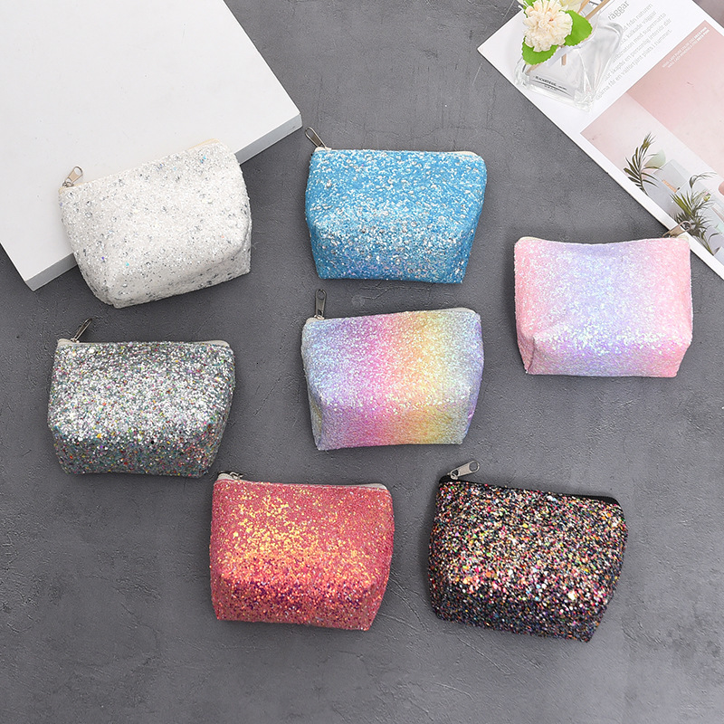 2019 New Color Cosmetic Bag Women Mini Makeup Bag Female Small Sequin Travel Neceser Wash Bag Case Dropshipping Party Evening