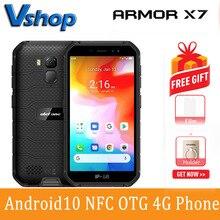 Ulefone Armor X7 Robuuste Smartphone 2Gb + 16Gb 5.0 Inch Android 10.0 Mtk Gezicht Id Vingerafdruk Mobiel Nfc otg 4G Lte Mobiele Telefoon