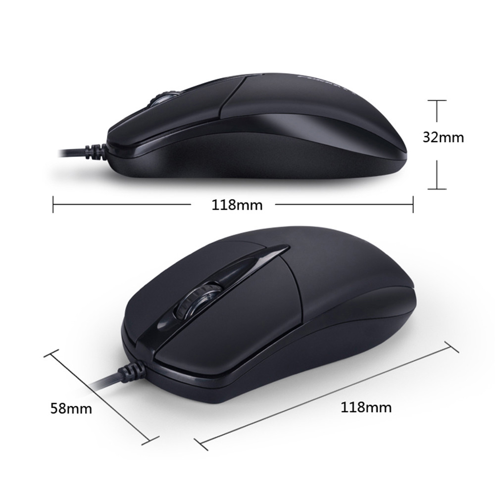 Universal USB Wired Mouse for Business Home Office Gaming Optical 1200DPI Mouse for PC Laptop 1.3M Cable USB Mice 6