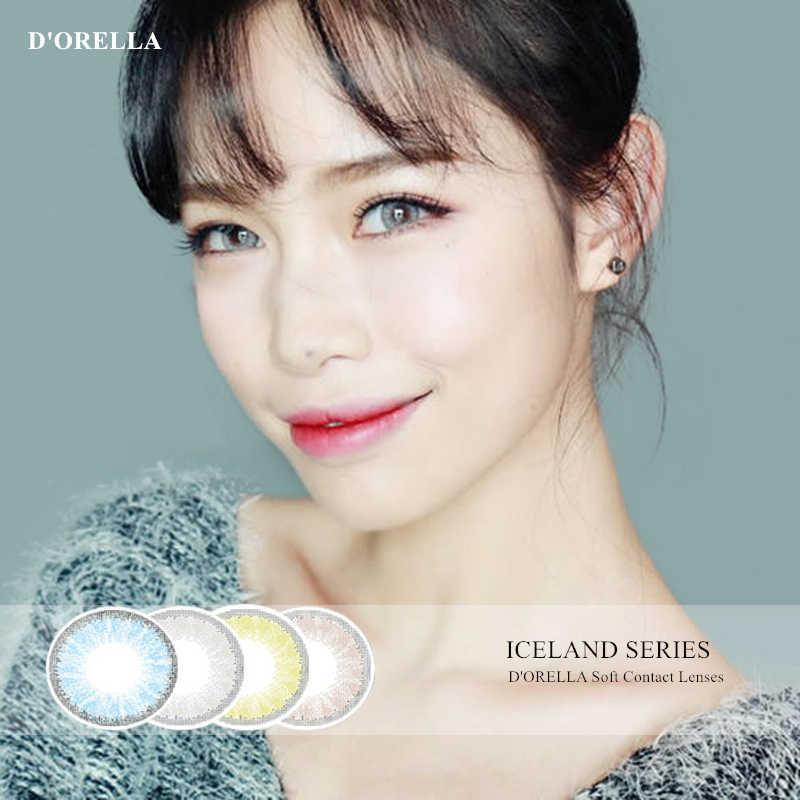 Dororella 1 par (2 pces) islândia híbrido série cosméticos lentes de contato para olhos coloridos lente de contato cor dos olhos