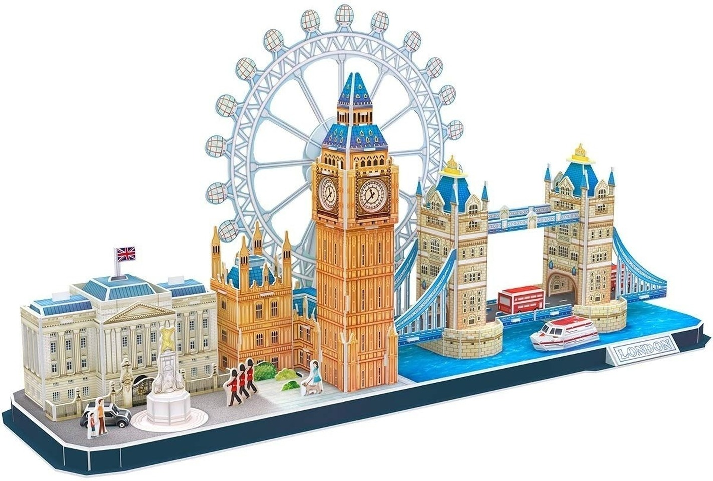 Architecture Puzzle 3D London Cityline Building Model Kits Collection Toys for Adults and Child Games and Puzzles Toys MC253h
