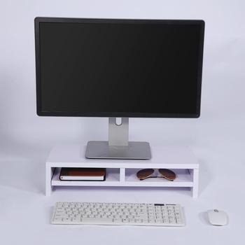 2-Tier Desktop Monitor Stand Shelf Computer Monitor Riser Laptop Stand Desk Holder For Notebook TV Desktop Monitor Stand