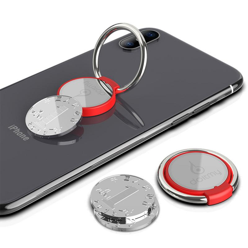 Doitmy Round Finger Ring Cell Mobile Phone Desktop Stand Mount For iPhone X 8 7 XS Metal Smartphone 360 Degree Desk Holder