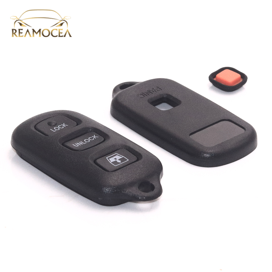 4 Buttons Black Silicone Key Shell Case Key Cover fit for Toyota 4runner Sequoia