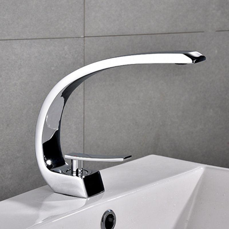 Nouveau robinet de bassin de bain en laiton Chrome robinet brosse Nickel évier mélangeur robinet vanité eau chaude froide salle de bain robinets - 4