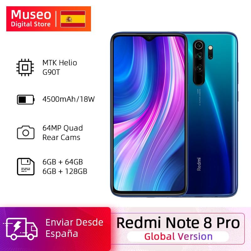 Global Version Xiaomi Redmi Note 8 Pro 64GB / 128GB ROM 64MP Quad Cameras MTK Helio G90T Smartphone 4500mAh 18W QC 3.0 UFS 2.1