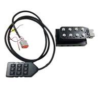 AA-VU8 8-Ecke Magnetventil Einheit 1/4 Zoll Pneumatische Stoßdämpfer Luft Magnetventil Einheit mit Kabel Stecker und controller