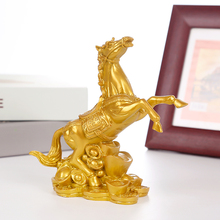 Resin horse crafts home decorations retro golden horse statue horse sculpture office decoration accessories ag0003 argentina 2012 leo gallegos municipal committee statue horse stamp 1 new 1120