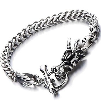Bracelet tête de Dragon acier inoxydable  2