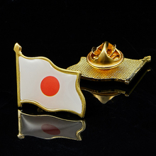 Japan National Waving Flag Brooch Brooch Pin Badge Career Suits Tie Clip/Bag Accessories israel flag pin brooch waving national flag style flag badge brooch w butterfly clip clothes accessories