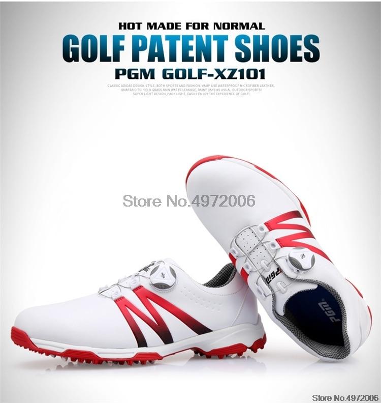 Pgm homem autêntico bola de golfe sapatos
