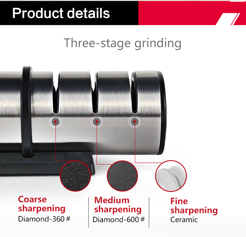 Image 4 - TAIDEA Brand Portable Kitchen Knife Sharpener Professional Kitchen Accessories 3 Slots Choice Knife Grinder Whetstone TG1202 h5-in Sharpeners from Home & Garden
