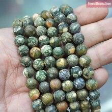 Jaspe de KAMBABA vieux mat 4 6 8 10 12MM, perles rondes en pierre naturelle Bracelet à bricoler soi-même, accessoires pour la fabrication de bijoux, fil de 15 pouces