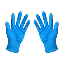 Disposable Nitrile-Gloves Cleaning-Product Household 2/100pcs Blue for Without-Box