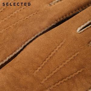 Image 5 - GESELECTEERD mannen Pure Kleur Wollen Lederen Handschoenen EEN