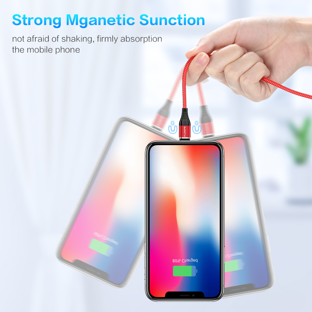 FLOVEME 3A Magnetic Cable Micro USB Type C Fast Charging Cable Phone Microusb Type C Magnet Charger For iPhone Huawei Xiaomi LG in Mobile Phone Cables from Cellphones Telecommunications