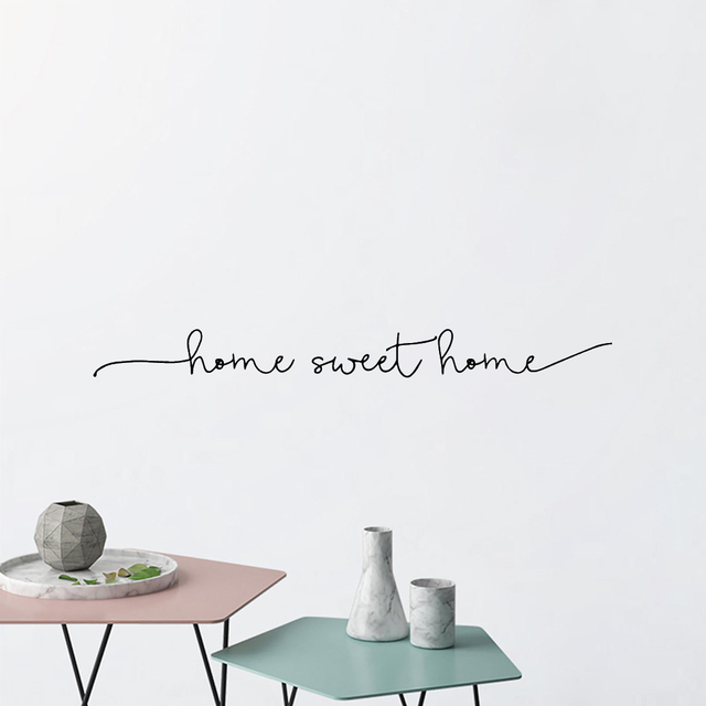 Home Sweet Home Phrase Wall Sticker 4