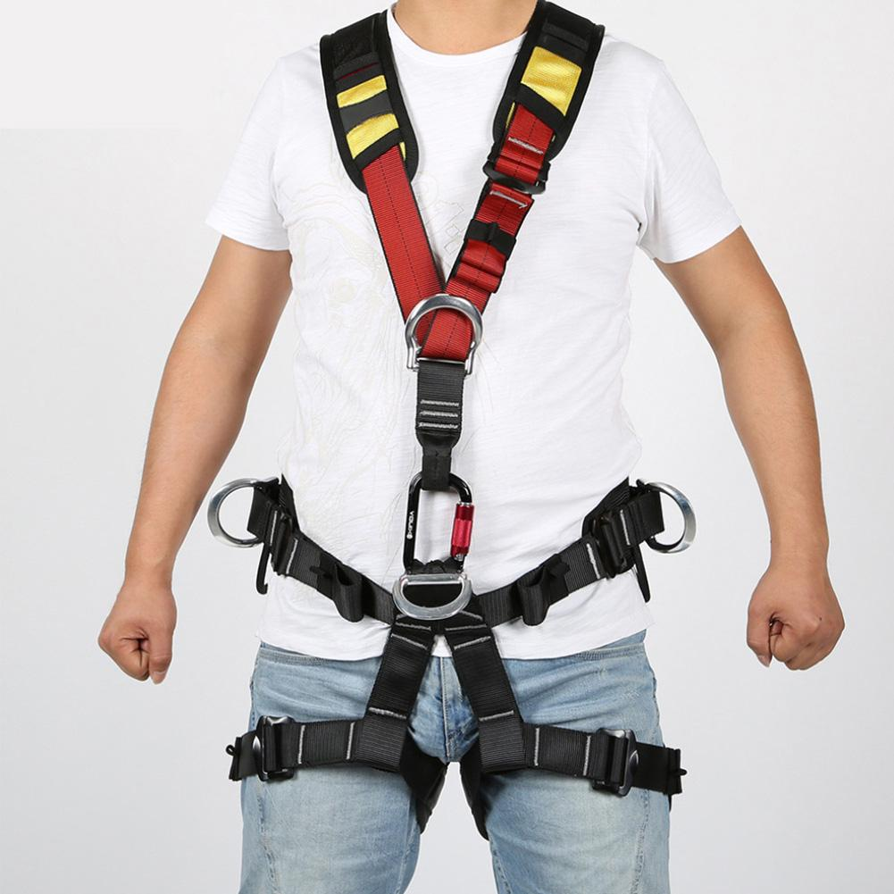 Full Body Safety Rock Climbing Tree Arborist Harness Shoulder Sling Belt Strap