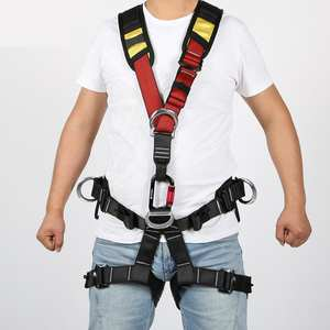 Full Body Safety Rock Climbing Tree Arborist Harness Shoulder Sling Belt Strap