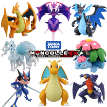 Tomy tomica moncolle ex figurines pokemon jouets résine moulée sous pression poche monstre anime moule chaud pop bébé jouets drôle magie enfants poupées