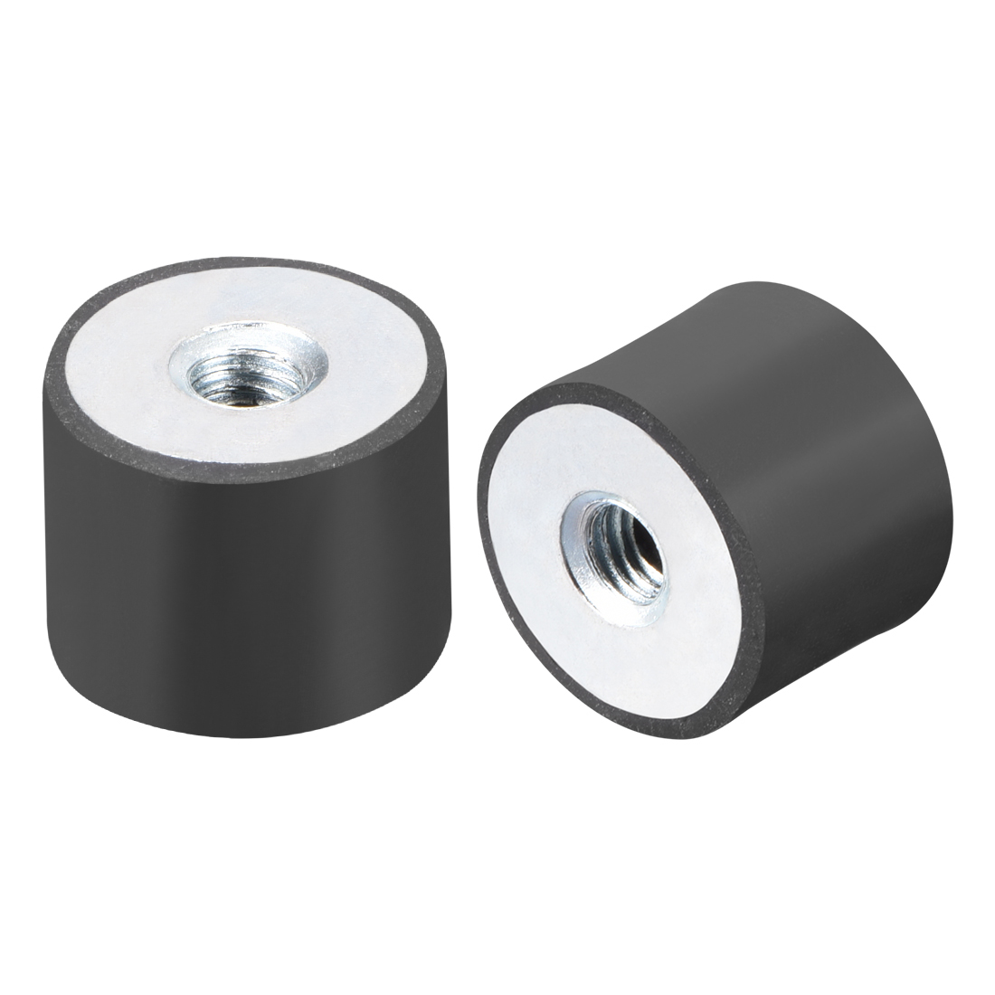 Uxcell M4 M5 M6 Thread Female Rubber Mounts,Silentblock Base Block For Air Compressors And Fitness Equipment