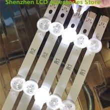 """10 adet/grup kullanılan parça orijinal 42 """"LED şerit PANASONIC TX 42B6B 42"""" LED TV LC420DUE (SF) (R2) 6916L 1340A R1 + L1 = 824MM 100% yeni"""
