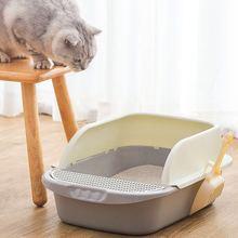 Large cat litter box anti-splashing full semi-closed cat toilet deodorant cat small cat deodorant feces basin sand basin