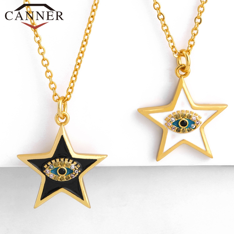 Simple Cute Five-pointed Star Pendant Necklace for Women Gold color Chain Necklace Girl's Gift Fashion Jewelry Wholesale