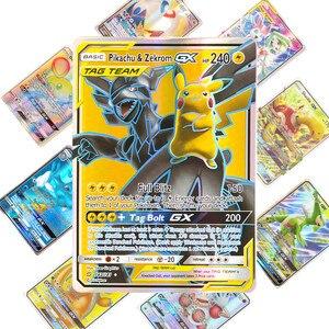 Image 2 - 200 adet 25 50 adet GX MEGA parlayan pokemon kart oyunu savaş Carte 100 adet ticaret kart oyunu çocuk oyuncağı