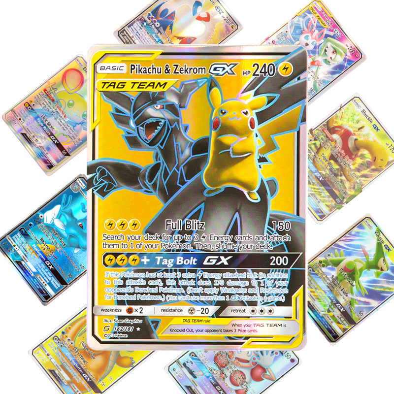 2019 NEW 10-324 Game Collection trading  GX pokemon Cards For Funs Children English Language Toy