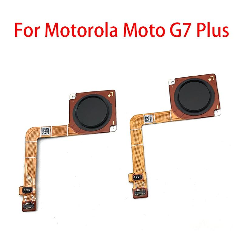Fingerprint Sensor Home Return Key Menu Button Flex Ribbon Cable For Motorola Moto G7 Plus Replacement Parts Mobile Phone Flex Cables     - title=