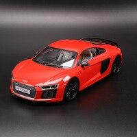 Audi R8 V10 PLUS 1 18 Alloy Diecast Model Cars Simulation Miniature Cars Metal Mini Car Home Decoration Collection Toys