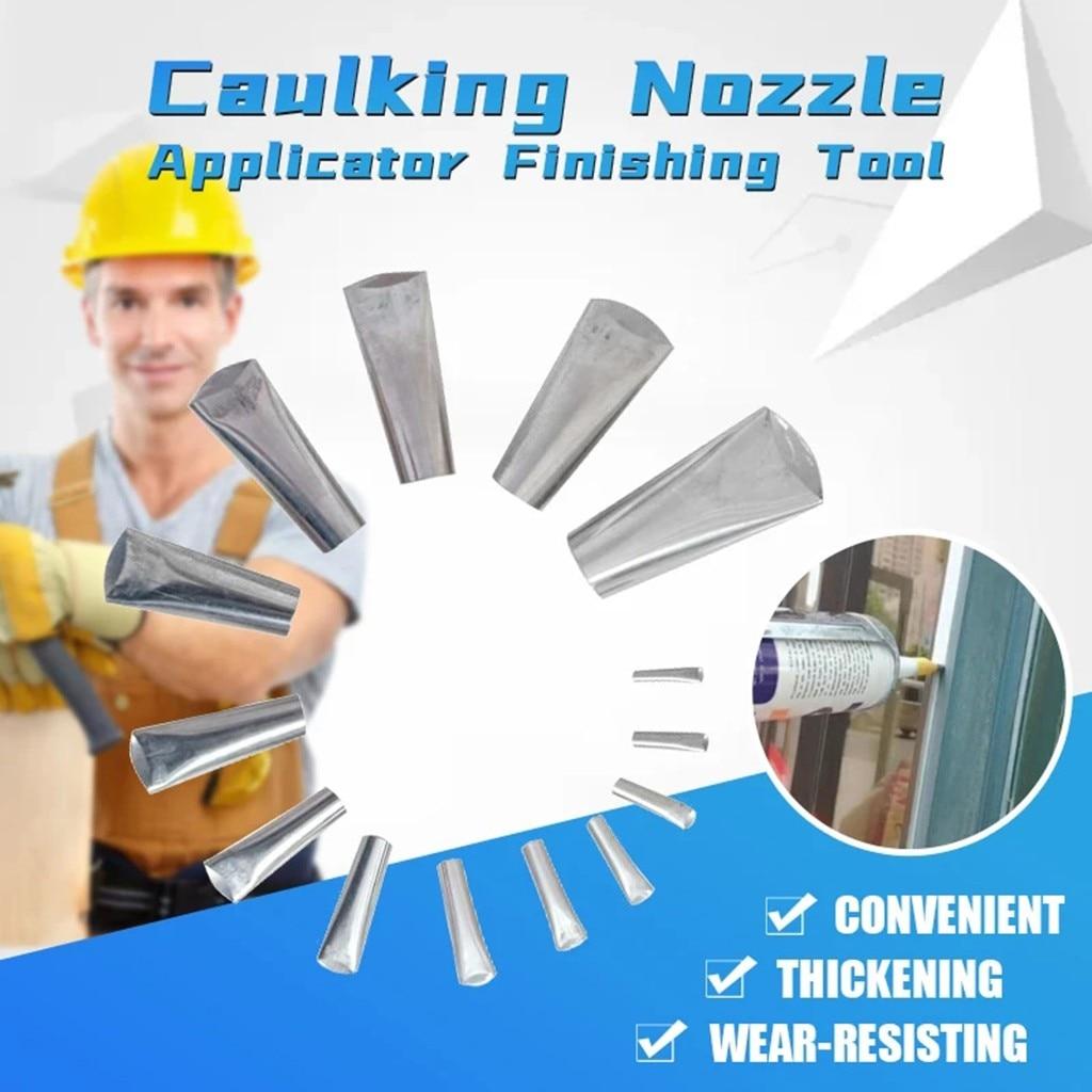 Silicone Caulking Finisher Tool and Scraper Set Nozzle Spatulas Filler 5-35mm