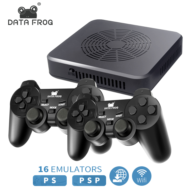 DATA FROG WIFI Video Game Console Support <font><b>4</b></font> Player Built-in <font><b>3000</b></font>+games 100 3D games For PS1/PSP Retro Game Console Support HDMI image