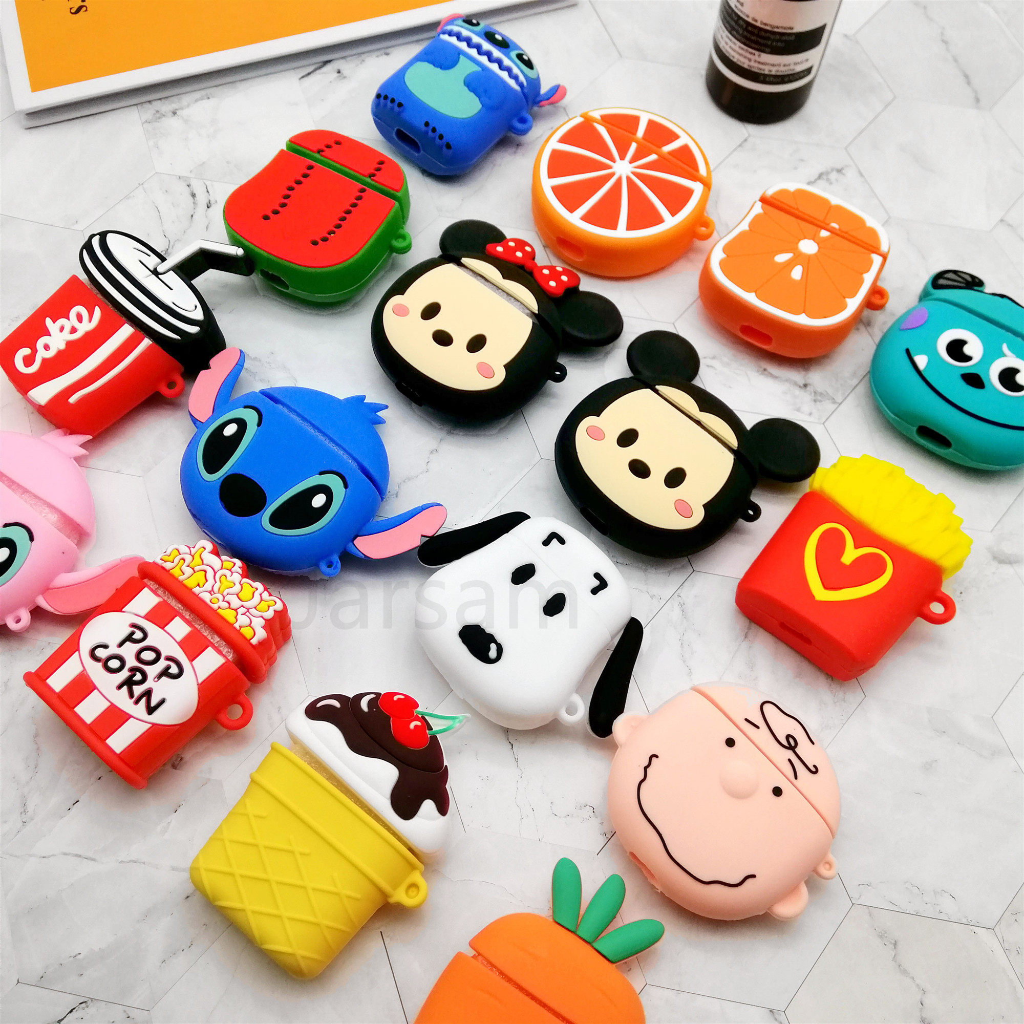 For Airpods Case Silicone Cartoon Cover For Apple Air Pods Cute Earphone Case 3D Headphone Case For Earpods Accessories