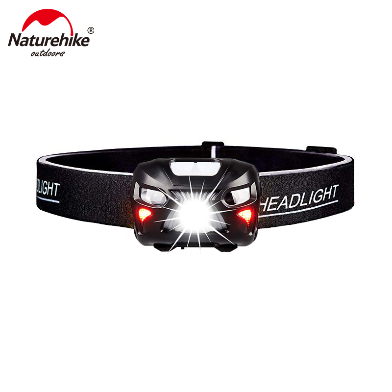 Naturehike 500 Lumens  LED Headlamp - Rechargeable  Lightweight With Portable Pouch Best Headlight For Camping Hiking NH18LHL2-B