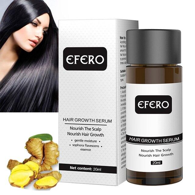 EFERO قوي نمو الشعر جوهر منتجات تساقط الشعر علاج الصلع زيت طبيعي منع تساقط الشعر العناية بالشعر تنمو 20 مللي
