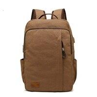 AUGUR Man Backpack Large Waterproof Laptop Bags Fashion School Bags Canvas Shoulder bag 2019 Vintage Travel Backpack mochilas