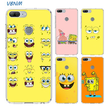 Cute Cartoon Spongebob Fundas Heart Case For Huawei Honor 20 Pro 8X 9 10 lite 9X 8A 8C 8S V20 20i Y5 Y6 Y7 Y9 2019 Shell Cover