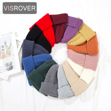 VISROVER 14 colorsways simple acrylic Beanie unisex Winter H