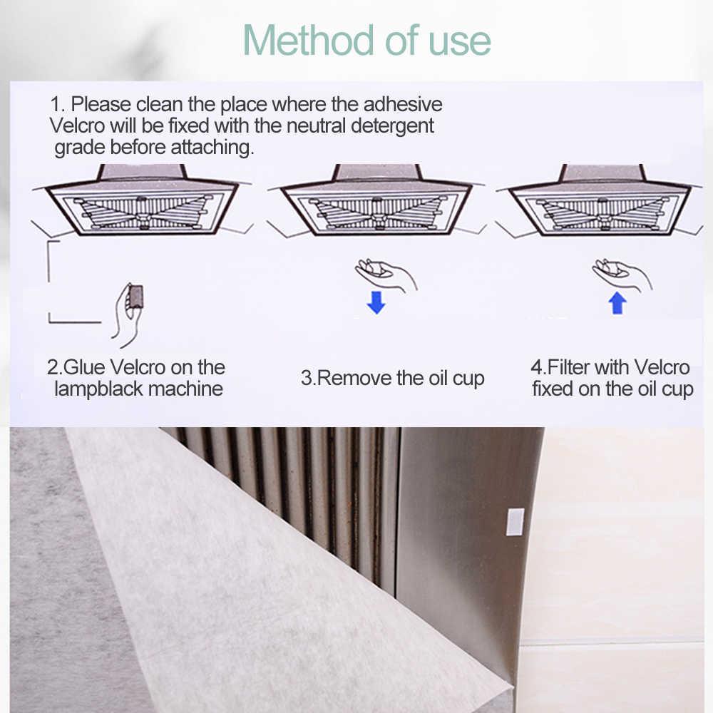 Filtro de óleo de cozinha filtro de papel absorvente de papel não tecido anti óleo algodão filtros exaustor exaustor de exaustor de exaustão filtro 2 pces